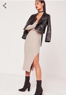 https://www.missguided.co.uk/v-neck-side-split-midi-dress-dark-stone